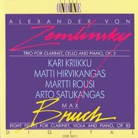 Zemlinsky, A. Von: Trio for Clarinet, Cello and Piano in D Minor / Bruch, M.: 8 Pieces