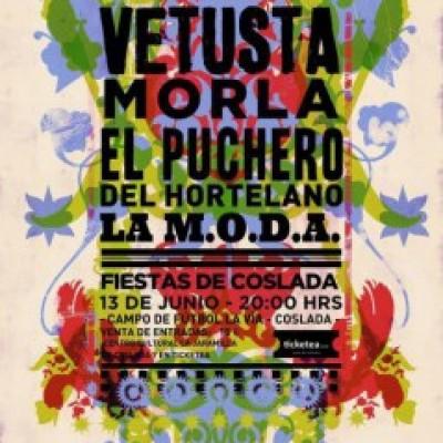 Vetusta Morla, El Puchero del Hortelano, La M.O.D.A. (La Maravillosa Orquesta Del Alcohol) en Coslada (Madrid)
