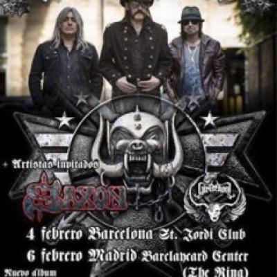 Motörhead, Saxon, Girlschool en Madrid