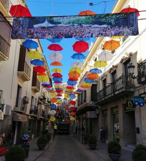 Calles de Cazorla durante el festival BluesCazorla